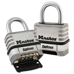 Master Lock® ProSeries Stainless Steel Easy-to-Set Combination Lock, Stainless Steel, 5/16""