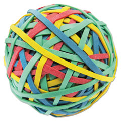 "Universal® Rubber Band Ball, 3"" Diameter, Size 32, Assorted Colors, 260/Pack"