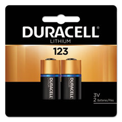 Duracell® Specialty High-Power Lithium Battery, 123, 3V, 2/Pack