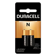 Duracell® Specialty Alkaline Battery, N, 1.5V, 2/Pack