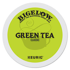 Bigelow® Green Tea K-Cup Pack, 24/Box, 4 Box/Carton