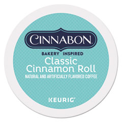 Cinnabon Classic Cinnamon Roll Coffee K-Cups, 24/Box