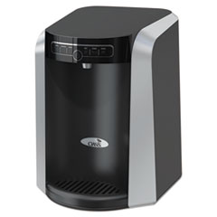 Oasis® Aquarius Counter Top Hot N Cold Water Cooler, 13 1/4 dia. x 17 h, Black