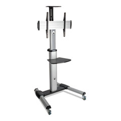 "Tripp Lite Mobile Floor Stand for 32"" to 70"" Flat Panel Monitors, Tilt Range: -12 deg to +5 deg, 32.6"" x 27.6"" x 81.5"", 110 lb Capacity"