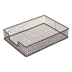 """Universal® Vintage Wire Mesh Letter Tray, 1 Section, Letter Size Files, 10.13"""" x 13.5"""" x 2.5"""", Vintage Bronze"""