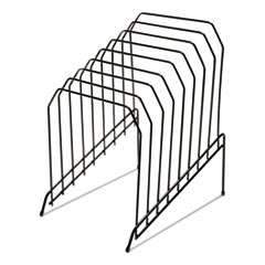 """Universal® Wire Tiered File Sorter, 8 Sections, Letter to Legal Size Files, 8"""" x 10.5"""" x 12.5"""", Black"""
