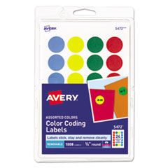 Avery® Printable Self-Adhesive Removable Color-Coding Labels Thumbnail