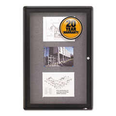 Quartet® Enclosed Indoor Fabric Bulletin Board with Hinged Doors Thumbnail