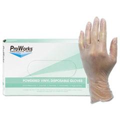 HOSPECO® ProWorks Exam Grade Disposable Vinyl Gloves, Clear, Medium, 1000/Carton