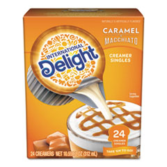 International Delight® Flavored Liquid Non-Dairy Coffee Creamer, Caramel Macchiato, Mini Cups, 24/Box