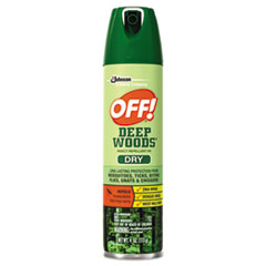 OFF!® Deep Woods Dry Insect Repellent, 4oz, Aerosol, Neutral, 12/Carton