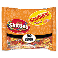 Wrigley's® Skittles/Starburst Fun Size, Variety, Individually Wrapped