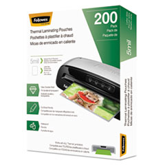 """Laminating Pouches, 5 mil, 9"""" x 11.5"""", Gloss Clear, 200/Pack"""
