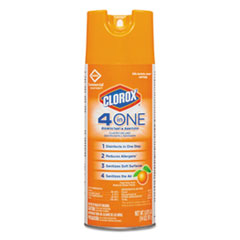 Clorox® 4-in-One Disinfectant & Sanitizer, Citrus, 14oz Aerosol