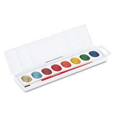 Prang® Metallic Washable Watercolors, 8 Assorted Colors