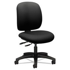 HON® ComforTask Multi-Task Chair, Supports up to 300 lbs., Black Seat, Black Back, Black Nylon Base