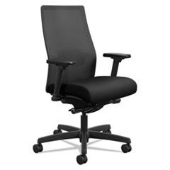 Ignition 2.0 4-Way Stretch Mid-Back Mesh Task Chair, Supports up to 300 lbs., Black Seat/Back, Black Base