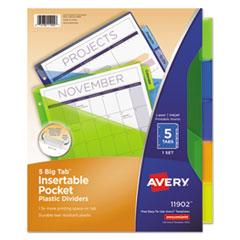 Avery® Insertable Big Tab™ Plastic Single-Pocket Dividers Thumbnail