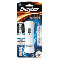 Energizer® Weather Ready LED Flashlight, 1 NiMH Rechargeable Battery (Included), Silver/Gray