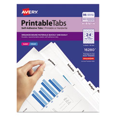 Avery® Printable Plastic Tabs with Repositionable Adhesive