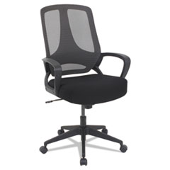 Alera® MB Series Mesh Mid-Back Office Chair, Black