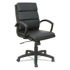 Alera® Alera Neratoli Mid-Back Slim Profile Chair, Supports up to 275 lbs., Black Seat/Black Back, Black Base