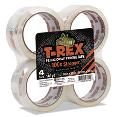 "Packaging Tape, 1.88"" Core, 1.88"" x 35 yds, Crystal Clear, 4/Pack"