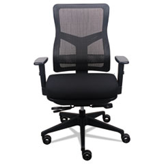 Image of 200 Mesh-Back Multifunction Chair, Black Fabric Seat/Black Mesh Back Chairs EUTTP200BLKM Tempur-Pedic by Raynor