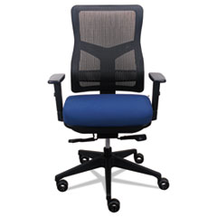 Image of 200 Mesh-Back Multifunction Chair, Navy Fabric Seat/Black Mesh Back Chairs EUTTP200NVY Tempur-Pedic by Raynor
