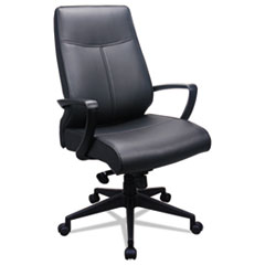 Image of 300 Leather High-Back Chair, Black Leather Seat/Back Chairs EUTTP300 Tempur-Pedic by Raynor