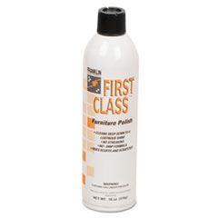 Franklin Cleaning Technology® First Class Furniture Polish, Floral Scent, 18 oz Aerosol Can, 12/Carton