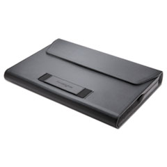 "Kensington® LS510 Portfolio for 11.6"" Chromebooks, 11.5"" x 1.5"" x 9.25"", Faux Leather, Black"