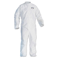 KleenGuard* A30 Breathable Splash/Particle Protection Coveralls, White, 4X-Large, 21/Carton