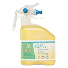 Green Works® Neutral Floor Cleaner Concentrate, Original, 101 oz Bottle, 2/Carton