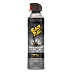 Diversey™ Black Flag Wasp, Hornet and Yellow Jacket Killer, 14 oz Aerosol, 12/Carton
