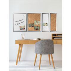 Positive Flow Metallic Silver Message Board Set, Assorted Sizes & Colors, 4/Set
