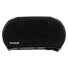 Boardwalk® Jumbo Twin Toilet Tissue Dispenser, 20 1/4 x 12 1/4, Black