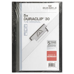 DuraClip Report Cover, 8 9/10 x 11 1/5, Clear, 5/Pack