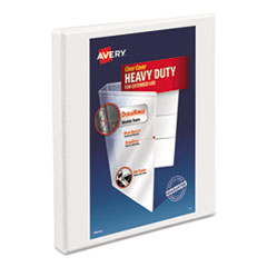 """Heavy-Duty Non Stick View Binder with DuraHinge and Slant Rings, 3 Rings, 0.5"""" Capacity, 11 x 8.5, White"""