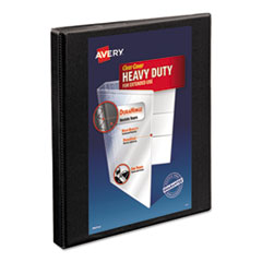 "Avery® Heavy-Duty Non Stick View Binder w/Slant Rings, 1/2"" Cap, Black"