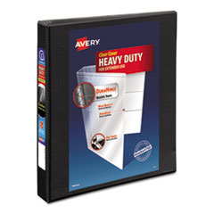 "Avery® Heavy-Duty Non Stick View Binder w/Slant Rings, 1"" Cap, Black"