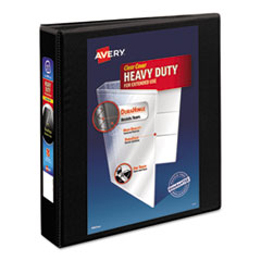 "Avery® Heavy-Duty Non Stick View Binder w/Slant Rings, 1 1/2"" Cap, Black"