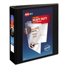 "Avery® Heavy-Duty Non Stick View Binder w/Slant Rings, 2"" Cap, Black"