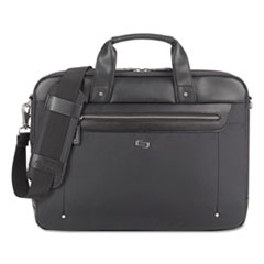 """Solo Irving Briefcase, 16.54"""" x 2.36"""" x 13.39"""", Polyester, Black"""