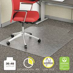 Alera® Studded Chair Mat for Flat Pile Carpet