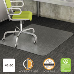 deflecto® DuraMat® Moderate Use Chair Mat for Low Pile Carpeting
