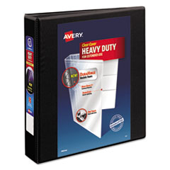 """Heavy-Duty View Binder with DuraHinge and One Touch EZD Rings, 3 Rings, 1.5"""" Capacity, 11 x 8.5, Black"""