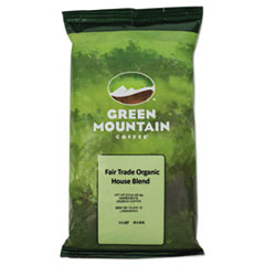 Green Mountain Coffee® Fair Trade Organic House Blend Coffee, Fractional Packs, 2.5oz, 50/Carton