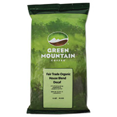 Green Mountain Coffee® Fair Trade Organic House Blend Decaf Coffee Fraction Packs, 2.5oz, 50/Carton