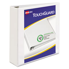 Avery® Touchguard™ Antimicrobial View Binder with Slant Rings